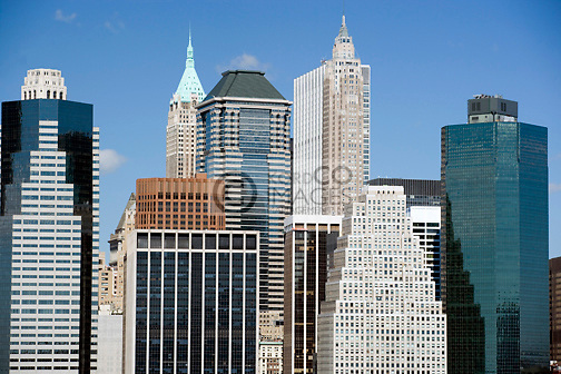 DOWNTOWN SKYLINE  MANHATTAN NEW YORK CITY USA
