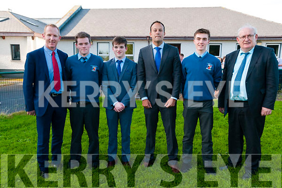 Turning Of the Sod: Pictured at the turning of the sod at St. Michael's College, Listowel on Friday evening last were Deputy Principal Liam Hassett,Jack Finnerty, darragh McAuliffe, Taoiseach Leo Varadkar, Daniel Sheehan & Principal Johnny Mulvihill.
