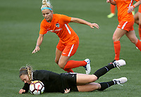 Portland, OR - Wednesday March 14, 2018: Lauren Kaskie, Rachel Daly during a National Women's Soccer League (NWSL) pre season match between the Houston Dash and the Chicago Red Stars at Merlo Field.