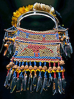Artesanato Indigena. Colar Karipuna, Galibi, Palikur. Museu do Indio. RJ. Foto de Rogerio Reis.