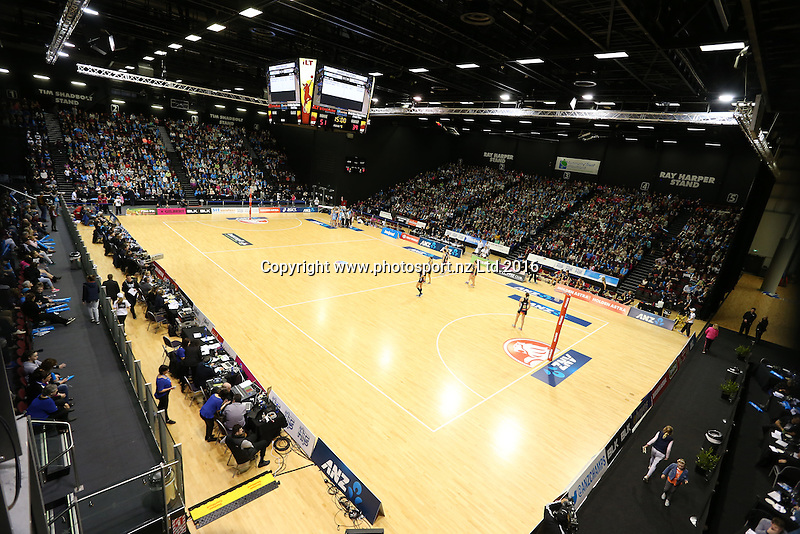 during the ANZ Championship netball match between the Southern Steel and Waikato Bay of Plenty Magic, ILT Stadium Southland, Invercargill, Sunday, June 19, 2016. Photo: Dianne Manson / www.photosport.nz