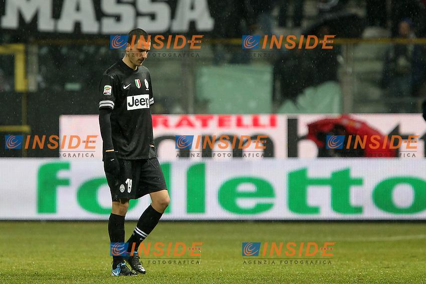 "Delusione Leonardo Bonucci Juventus.Parma 13/01/2013 Stadio ""Tardini"".Football Calcio Serie A 2012/13.Parma v Juventus.Foto Insidefoto Paolo Nucci."