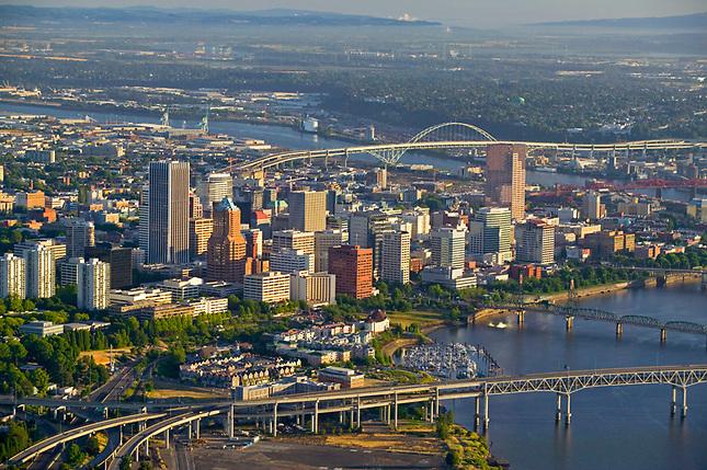 Portland on the Willamette River