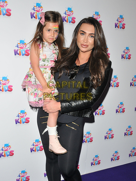 Lauren Goodger &amp; her niece at the Sky Kids Cafe VIP launch party, The Vinyl Factory, Marshall Street, London, England, UK, on Sunday 29 May 2016.<br /> CAP/CAN<br /> &copy;CAN/Capital Pictures