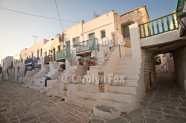Houses within the twelfth-century Castro in the Chora, Folegandros, Cyclades, Greece