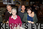 Ted (originally Killarney) and Betty Long with James and Anne Harrington, Newport, Tipperary at The Four Elms Bar for the Dab Paddy Andy festival last Saturday night in Lyreacrompane.