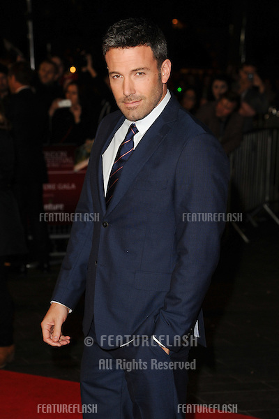 "Ben Affleck at the premiere for ""Argo"" being shown as part of the London Film Festival 2012, Odeon Leicester Square, London 17/10/2012 Picture by: Steve Vas / Featureflash"