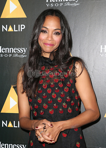 HOLLYWOOD, CA June 24- Zoe Saldana, At NALIP Latino Media Awards at The Ray Dolby Ballroom at Hollywood & Highland Center, California on June 24, 2017. Credit: Faye Sadou/MediaPunch