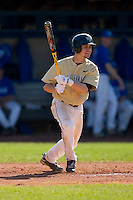 Tyler Smith #3 of the Wake Forest Demon Deacons follows through on his swing versus the Duke Blue Devils at Jack Coombs Field March 29, 2009 in Durham, North Carolina. (Photo by Brian Westerholt / Four Seam Images)