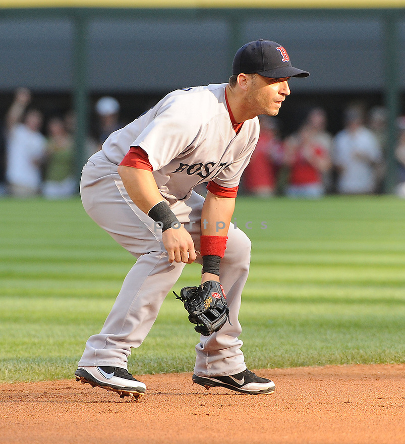 MARCO SCUTARO, of the Boston Red Sox, in action during the Red Sox game against the Chicago White Sox on July 30,2011 at US Cellular Field in Chicago, Illinois. The Red Sox beat the White Sox 2-10.