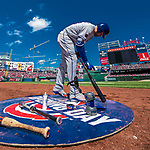 5 April 2018: New York Mets first baseman Adrian Gonzalez prepares his bat while on deck against the Washington Nationals during the Nationals' Home Opener at Nationals Park in Washington, DC. The Mets defeated the Nationals 8-2 in the first game of their 3-game series. Mandatory Credit: Ed Wolfstein Photo *** RAW (NEF) Image File Available ***