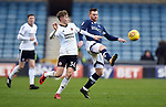 David Brooks of Sheffield United is challenged by Ryan Tunnicliffe of Millwall during the championship match at The Den Stadium, Millwall. Picture date 2nd December 2017. Picture credit should read: Robin Parker/Sportimage