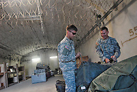 - Camp Ederle US Army base, inside of a bunker used as warehouse in Longare detachment (former Site Pluto)....- base US Army di caserma Ederle, interno di un bunker usato come magazzino nel distaccamento di Longare (ex Site Pluto)