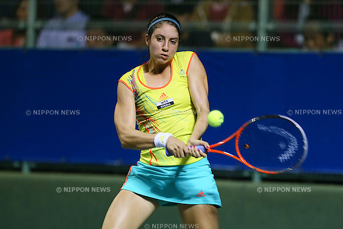 Christina Mchale (USA), .OCTOBER 8, 2012 - Tennis : .HP japan Women's Open Tennis 2012, .Women's Singles first round match .at Utsubo Tennis Center, Osaka, Japan. .(Photo by Akihiro Sugimoto/AFLO SPORT) [1080]