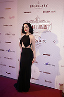 Dita Von Teese pose for photographer on the red carpet of the Olympia de Montreal, before the Dita Von Teese Lavender May and friends'  Grand Cabaret, Sunday February 21, 2016.<br /> <br /> Photo : Pierre Roussel - Agence Quebec Presse