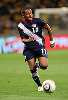 Juan Agudelo during the  Soccer match between South Africa and USA played at the Greenpoint in Cape Town South Africa on 17 November 2010.  Photo: Gerhard Steenkamp/ISI Photo