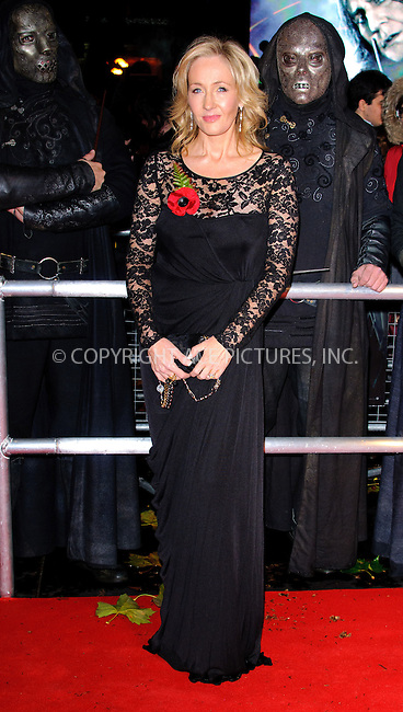 WWW.ACEPIXS.COM . . . . .  ..... . . . . US SALES ONLY . . . . .....November 11 2010, London....JK Rowling at the World premiere of 'Harry Potter and the Deathly Hallows Part 1' held at the Odeon Leicester Square on November 11 2010 in London....Please byline: FAMOUS-ACE PICTURES... . . . .  ....Ace Pictures, Inc:  ..Tel: (212) 243-8787..e-mail: info@acepixs.com..web: http://www.acepixs.com