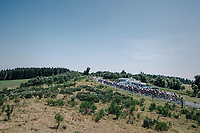 stretched main peloton riding into the Ardeche region<br /> <br /> 104th Tour de France 2017<br /> Stage 16 - Le Puy-en-Velay &rsaquo; Romans-sur-Is&egrave;re (165km)