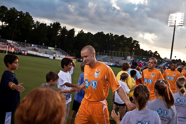 September 12, 2009. Cary, NC..The Carolina Railhawks took over the #2 spot in the league after a 2-1 victory over the Puerto Rico Islanders.. #2 Greg Shields.