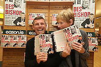 NO REPRO FEE. 8/10/2011. Comedian Des Bishop is pictured with his mother Eileen at a signing of his new book My Dad was nearly James Bond at Easons Eason, Ireland's leading retailer of books, stationery, magazines on O'Connell St Dublin. Follow Eason on Twitter - @easonsFor further information, please contact: Aoife McDonald WHPR 087 4100777. Picture James Horan/Collins Photo