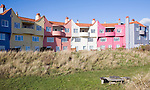Colourful apartment housing called the Headlands at Thorpeness, Suffolk, England