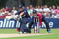 Tom Westley sweeps four runs for Essex as Sam Billings looks on - Essex Eagles vs Kent Spitfires - NatWest T20 Blast Cricket at Castle Park, Colchester, Essex - 12/07/14 - MANDATORY CREDIT: Gavin Ellis/TGSPHOTO - Self billing applies where appropriate - contact@tgsphoto.co.uk - NO UNPAID USE