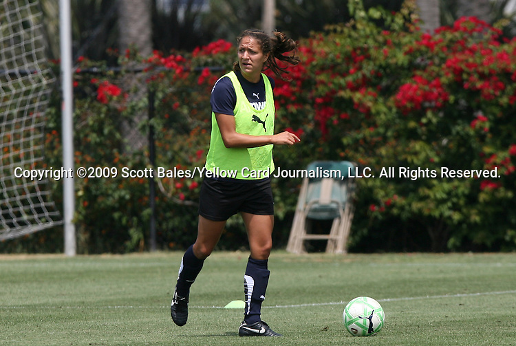 21 August 2009: LA's Stephanie Cox. The Los Angeles Sol held a training session at the Home Depot Center in Carson, California one day before playing Sky Blue FC in the inaugural Women's Professional Soccer Championship Game.