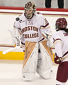 Gabri Switaj (BC - 32), Serena Sommerfield (BC - 3) - The number one seeded Boston College Eagles defeated the eight seeded Merrimack College Warriors 1-0 to sweep their Hockey East quarterfinal series on Friday, February 24, 2017, at Kelley Rink in Conte Forum in Chestnut Hill, Massachusetts.The number one seeded Boston College Eagles defeated the eight seeded Merrimack College Warriors 1-0 to sweep their Hockey East quarterfinal series on Friday, February 24, 2017, at Kelley Rink in Conte Forum in Chestnut Hill, Massachusetts.