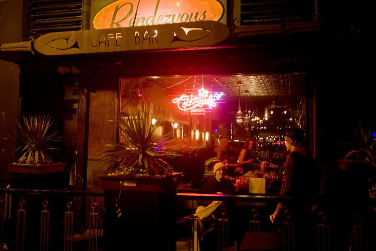 Rendezvous Cafe, bar, Jewel Box Theater, Belltown, Seattle, Washington State, Pacific Northwest, North America, USA,