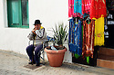 Man in the market, Teguise, Lanzarote, Canary Islands.