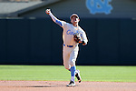19 February 2017: North Carolina's Logan Warmoth. The University of North Carolina Tar Heels hosted the University of Kentucky Wildcats in a College baseball game at Boshamer Stadium in Chapel Hill, North Carolina. UNC won the game 5-4.