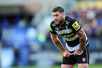 Matt Banahan of Bath Rugby looks on. Aviva Premiership match, between Bath Rugby and Sale Sharks on April 23, 2016 at the Recreation Ground in Bath, England. Photo by: Patrick Khachfe / Onside Images