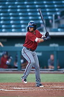 AZL Dbacks Ismael Jaime (7) at bat during an Arizona League game against the AZL Cubs 2 on June 25, 2019 at Sloan Park in Mesa, Arizona. AZL Cubs 2 defeated the AZL Dbacks 4-0. (Zachary Lucy/Four Seam Images)