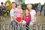 Darren Brosnan, Chloe Mangan, Catherina Sommers and Meg O'Mahony taking part in the dog show for the Annual Harvest Queen Festival was pictured here last Saturday in Knocknagoshal.