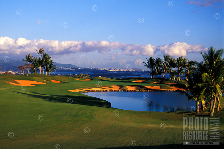 Royal Kunia hole number 18 designed by Nelson & Haworth, Oahu