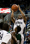 January 14, 2012:   Nevada Wolf Pack guard Deonte Burton shoots against the Hawai'i Rainbow Warriors during their NCAA basketball game played at Lawlor Events Center on Saturday night in Reno, Nevada.