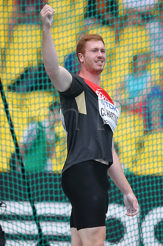 12.08.2013. Moscow, Russia.  IAAF Athletics World Cup Moscow 2013  Sports Arena Luzhniki Moscow Christoph Harting Germany Discus throw Men