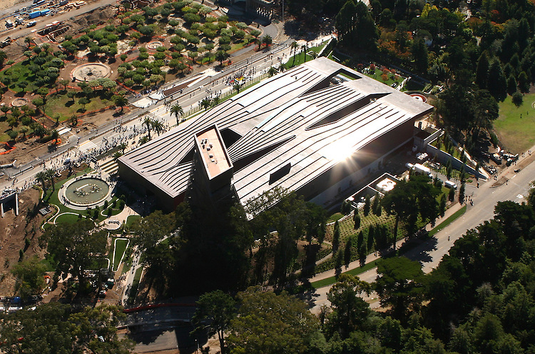 October 16, 2005; San Francisco, CA, USA; Aerial view of the M.H. de Young Museum in Golden Gate park in San Francisco, CA. Photo by: Phillip Carter