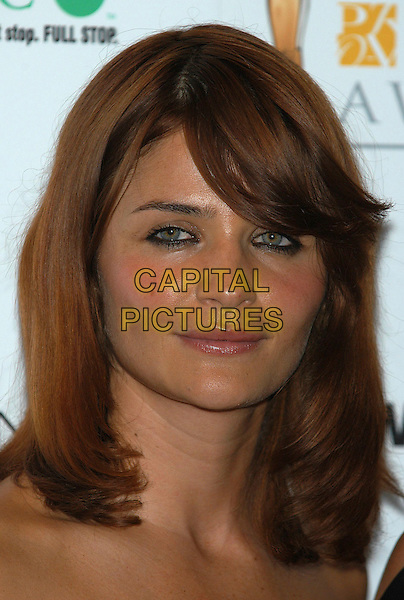 HELENA CHRISTENSEN.photo room at the Pantene Pro-V Awards at the Royal Albert Hall, London, UK..October 22nd, 2002.heavy eyeliner, makeup headshot portrait .CAP/PL.©Phil Loftus/Capital Pictures