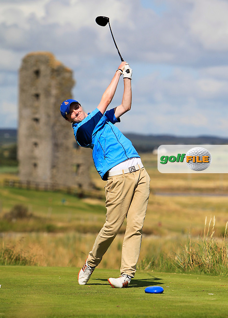 Eugene Smith (Ardee) on the 13th tee during the South of Ireland Amateur Open Championship 4th Round at Lahinch Golf Club  29th July 2013 <br /> Picture:  Thos Caffrey / www.golffile.ie