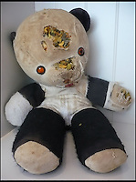 BNPS.co.uk (01202 558833)<br /> Pic: AlicesBearShop/BNPS<br /> <br /> A bear called Sue before surgery.<br /> <br /> Broken bears and deteriorating dolls from all over the world are being brought back to life by a UK team of dedicated doctors and nurses at one of the last remaining toy hospitals.<br /> <br /> The team at Alice's Bear Shop, a teddy bear and doll hospital in Lyme Regis, Dorset, perform all kinds of 'surgery' from simple restringing and re-stuffing to head re-attachments and complete skin grafts.<br /> <br /> Rikey Austin, 49, opened the hospital in January 2000 but also ran a shop and only repaired one or two toys a month.<br /> <br /> Now she has a four-month waiting list for patients and has had to close the shop to focus on the hospital side of the business.