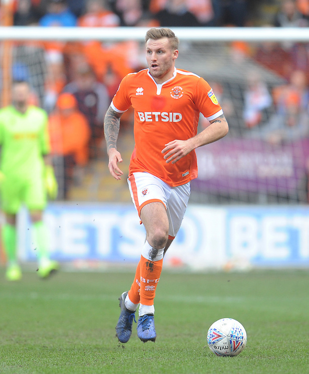 Blackpool's Nick Anderton<br /> <br /> Photographer Kevin Barnes/CameraSport<br /> <br /> The EFL Sky Bet League One - Blackpool v Southend United - Saturday 9th March 2019 - Bloomfield Road - Blackpool<br /> <br /> World Copyright © 2019 CameraSport. All rights reserved. 43 Linden Ave. Countesthorpe. Leicester. England. LE8 5PG - Tel: +44 (0) 116 277 4147 - admin@camerasport.com - www.camerasport.com
