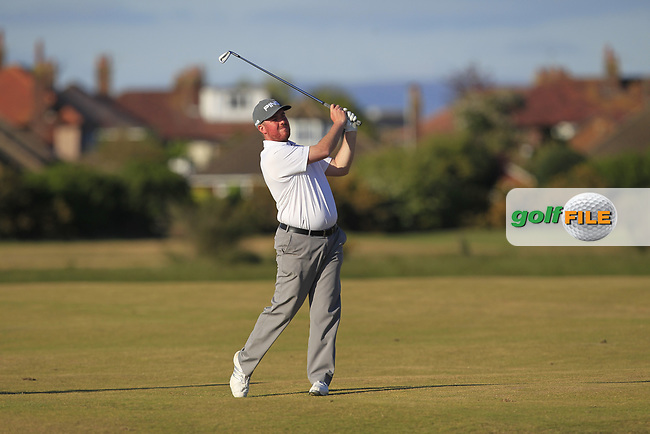 Simon Richardson (Spalding Golf Club) on the 17th fairway during the final round of the Lytham Trophy 2017 at Royal Lytham &amp; St. Anne's on Sunday 7th May 2017.<br /> Photo: Golffile / Thos Caffrey.<br /> <br /> All photo usage must carry mandatory copyright credit     (&copy; Golffile | Thos Caffrey)