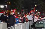 Egyptian community in New York wave the national flags during the welcome ceremony of Egyptian President Abdel Fattah al-Sisi, in New York City, U.S. September 17, 2017. Photo by Egyptian President Office