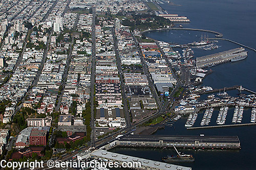aerial photograph Fisherman's Wharf San Francisco