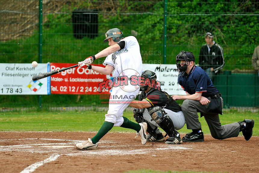 May 1, 2008:  New York Mets International Singing Kai Gronauer at bat while playing amateur baseball in Germany.  Gronauer, a catcher, signed with the Mets in 2008.  Photo By Gregor Eisenhuth/Four Seam Images