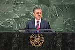 DSG meeting<br /> <br /> AM Plenary General DebateHis<br /> <br /> <br /> His Excellency Moon Jae-in, President, Republic of Korea