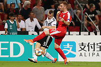 Lukas Klostermann of Germany and Miroslav Bogosavac of Serbia compete for the ball<br /> Trieste 20-06-2019 Stadio Nereo Rocco <br /> Football UEFA Under 21 Championship Italy 2019<br /> Group Stage - Final Tournament Group B<br /> Germany - Serbia <br /> Photo Cesare Purini / Insidefoto
