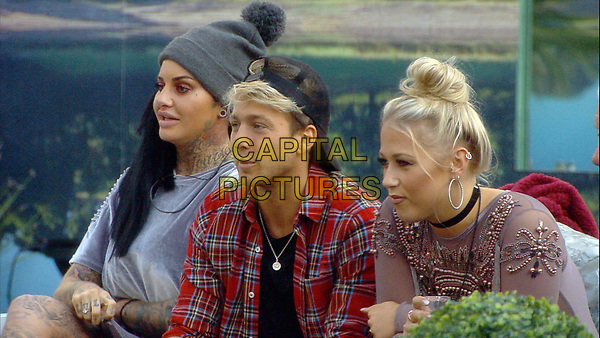 Celebrity Big Brother 2017<br /> Jemma Lucy, Sam Thompson and Amelia Lily.<br /> *Editorial Use Only*<br /> CAP/KFS<br /> Image supplied by Capital Pictures