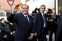 Silvio Berlusconi <br /> Roma 18/01/2018. Trasmissione tv La7 'L'aria che tira'.<br /> Rome January 18th 2018. Silvio Berlusconi appears as a guest on the talk show ''L'aria che tira' in Rome<br /> Foto Samantha Zucchi Insidefoto